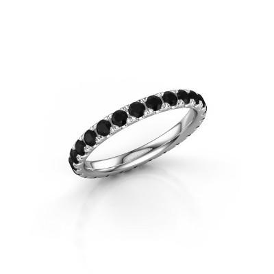 Foto van Ring Jackie 2.3 950 platina zwarte diamant 1.50 crt