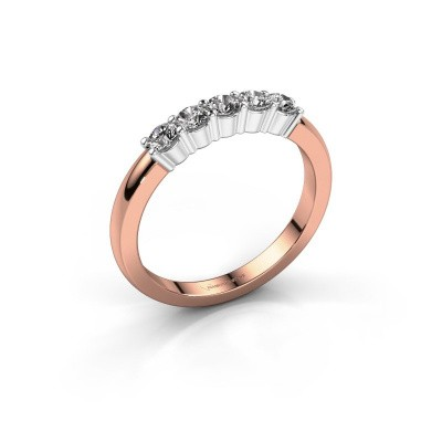 Picture of Engagement ring Yasmin 5 585 rose gold lab-grown diamond 0.50 crt
