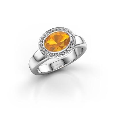 Foto van Ring Salena 925 zilver citrien 8x6 mm