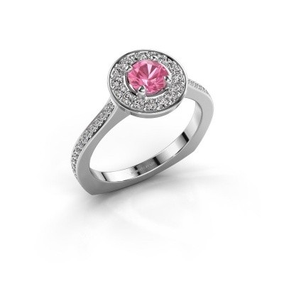 Ring Kanisha 2 925 zilver roze saffier 5 mm