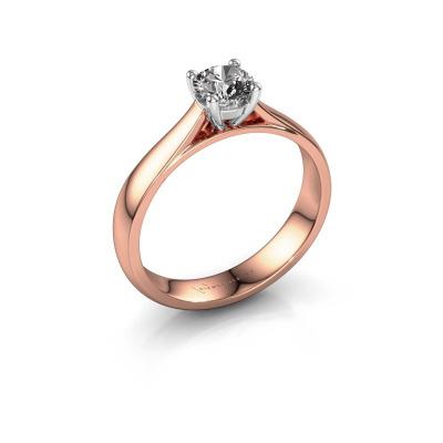 Verlobungsring Sam 585 Roségold Diamant 0.50 crt