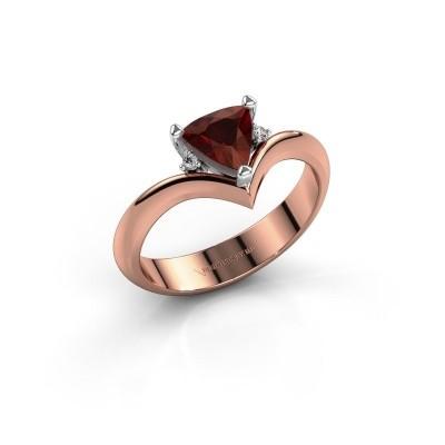 Ring Arlette 585 rosé goud granaat 7 mm