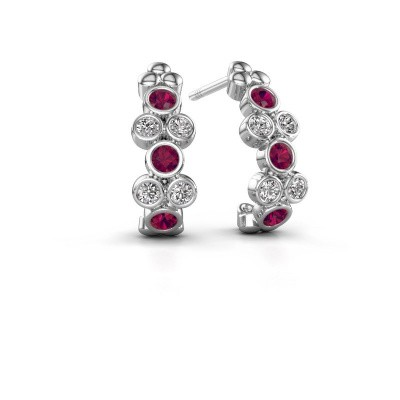 Earrings Kayleigh 950 platinum rhodolite 2.4 mm