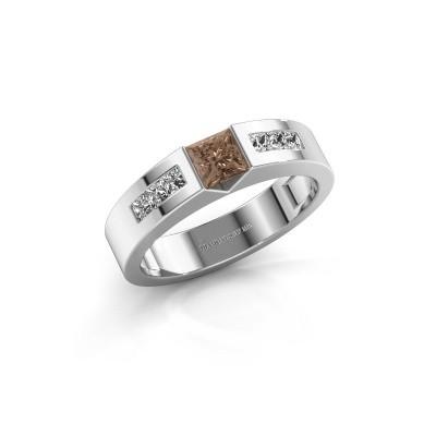 Foto van Verlovings ring Arlena 2 950 platina bruine diamant 0.70 crt
