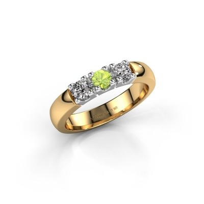 Engagement ring Rianne 3 585 gold peridot 3.4 mm