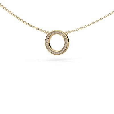 Picture of Pendant Round 1 585 gold diamond 0.075 crt