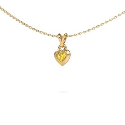 Foto van Hanger Charlotte Heart 585 goud gele saffier 4 mm