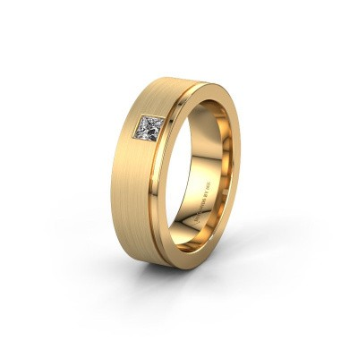 Trouwring WH0550L16CMP 585 goud lab-grown diamant ±6x2.2 mm