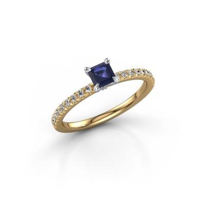 Verlobungsring Crystal ASS 2 585 Gold Saphir 4.5 mm