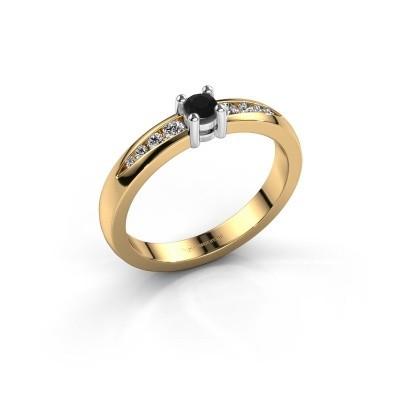 Foto van Verlovingsring Zohra 585 goud zwarte diamant 0.257 crt