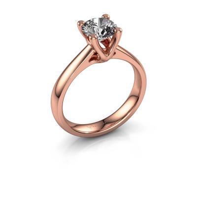 Bague de fiançailles Janna 1 585 or rose diamant 1.00 crt