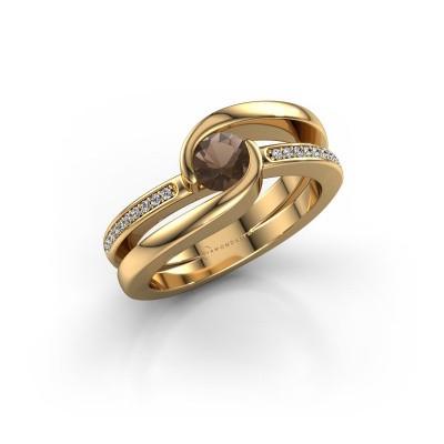Foto van Ring Xenia 2 585 goud rookkwarts 5 mm