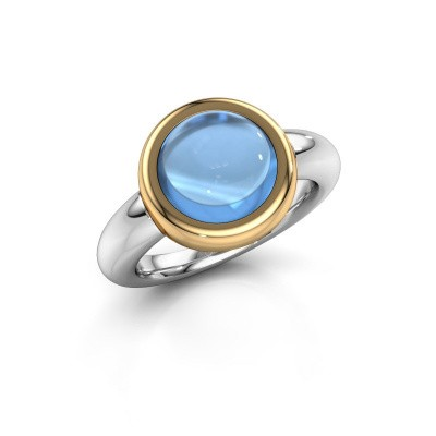 Ring Jenae 585 white gold blue topaz 10 mm