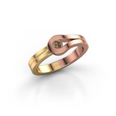 Bague Kiki 585 or rose diamant brun 0.10 crt