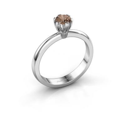 Verlovingsring Julia 950 platina bruine diamant 0.25 crt
