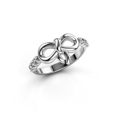 Foto van Ring Olympia 585 witgoud diamant 0.27 crt