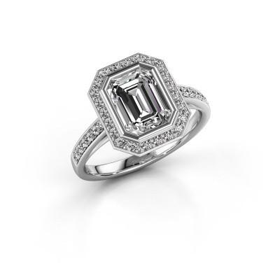 Foto van Verlovingsring Noud 2 EME 925 zilver diamant 2.074 crt