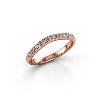 Stackable ring SR20A6H 375 rose gold lab-grown diamond 0.168 crt