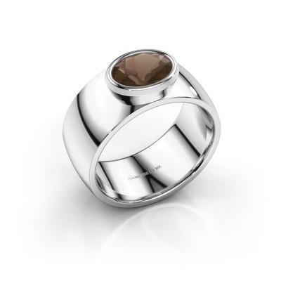 Ring Wilma 1 925 zilver rookkwarts 8x6 mm
