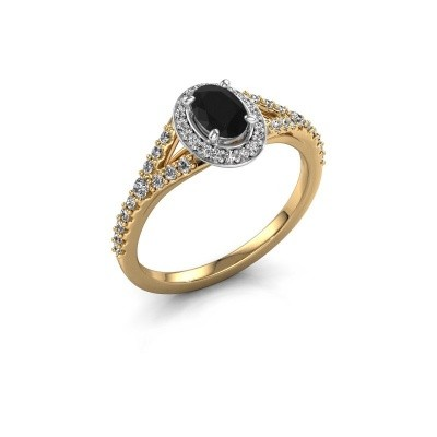 Belofte ring Pamela OVL 585 goud zwarte diamant 1.286 crt