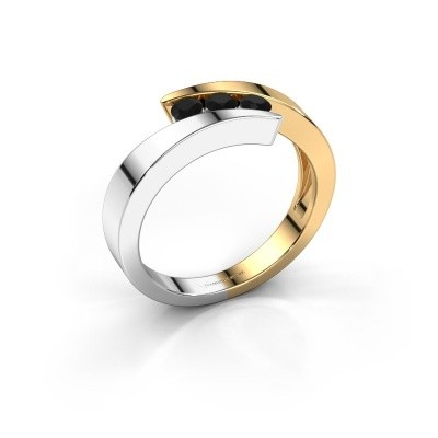 Foto van Ring Gracia 585 goud zwarte diamant 0.288 crt