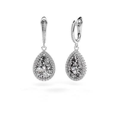 Oorhangers Tilly per 4 585 witgoud diamant 3.00 crt