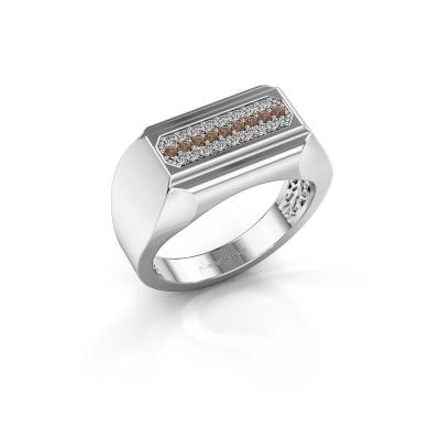 Herrenring Gerard 950 Platin Braun Diamant 0.30 crt