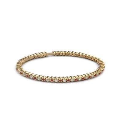 Tennisarmband Trix 375 goud robijn 2 mm