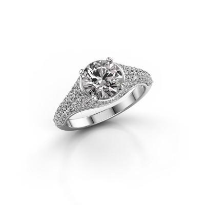 Foto van Ring Lovella 950 platina diamant 1.929 crt