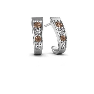 Picture of Earrings Glady 585 white gold brown diamond 0.51 crt