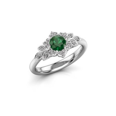 Picture of Engagement ring Tatjana 585 white gold emerald 5 mm