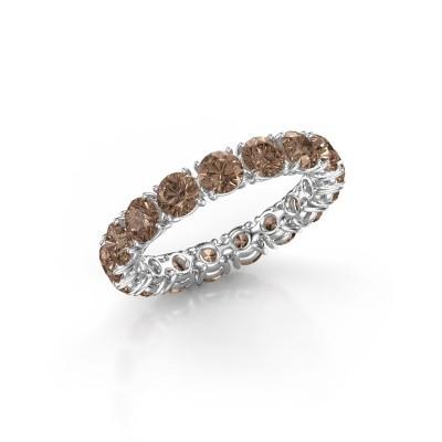 Foto van Aanschuifring Vivienne 3.7 950 platina bruine diamant 3.40 crt