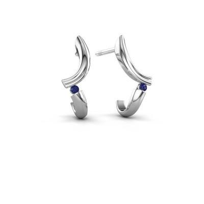 Earrings Tish 585 white gold sapphire 1.5 mm