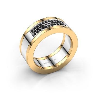 Foto van Ring Marita 1 585 witgoud zwarte diamant 0.28 crt