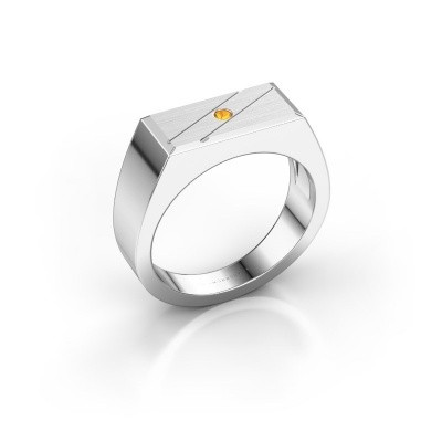 Men's ring Dree 3 950 platinum citrin 2 mm