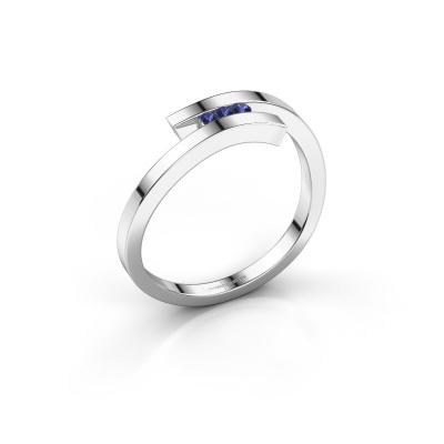 Ring Juliette 925 silver sapphire 1.6 mm