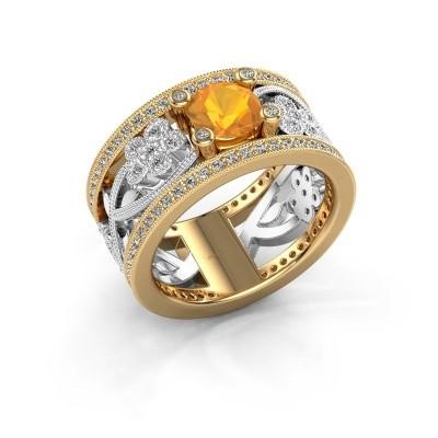 Foto van Ring Severine 585 goud citrien 6 mm