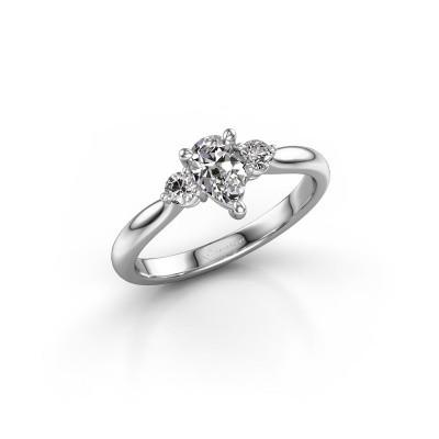 Foto van Verlovingsring Lieselot PER 950 platina diamant 0.66 crt