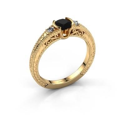 Foto van Verlovingsring Anamaria 375 goud zwarte diamant 0.69 crt