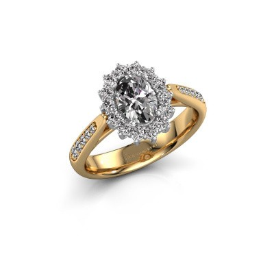 Engagement ring Margien 2 585 gold zirconia 7x5 mm