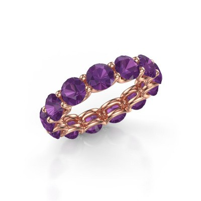 Picture of Ring Kirsten 5.0 375 rose gold amethyst 5 mm