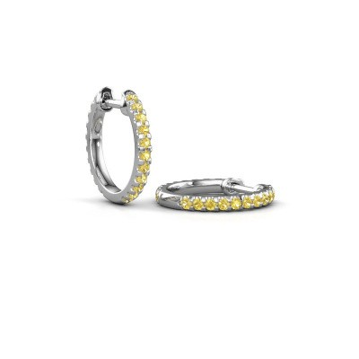 Picture of Hoop earrings Jackie 12.5 mm A 950 platinum yellow sapphire 1.5 mm