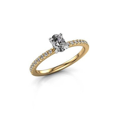 Picture of Engagement ring Crystal OVL 2 585 gold zirconia 6x4 mm