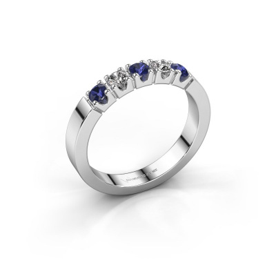 Engagement ring Dana 5 585 white gold sapphire 3 mm