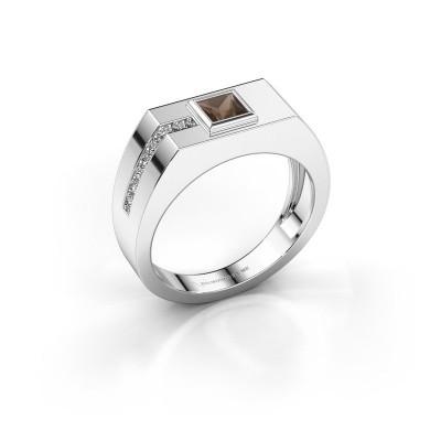 Foto van Heren ring Robertus 1 950 platina rookkwarts 4 mm