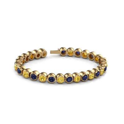 Foto van Tennisarmband Bianca 5 mm 375 goud gele saffier 5 mm