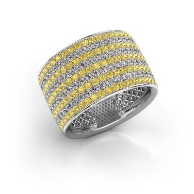 Ring Macy 950 platina gele saffier 1.4 mm