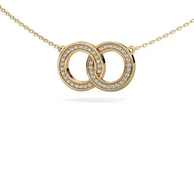 Foto van Ketting Circles 1 375 goud diamant 0.23 crt