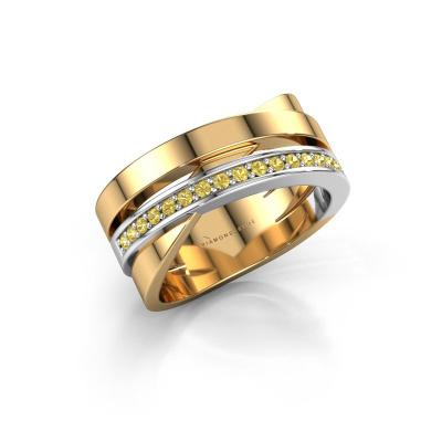 Ring Yolando 585 gold yellow sapphire 1.3 mm