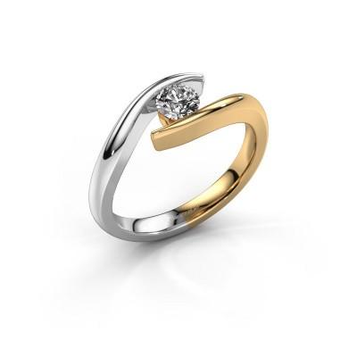Foto van Aanzoeksring Alaina 585 goud diamant 0.30 crt